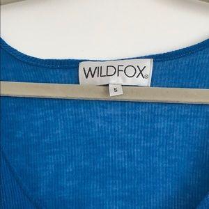 "Wildfox Tops - WILDFOX ""i need a nap"" blue graphic tank"